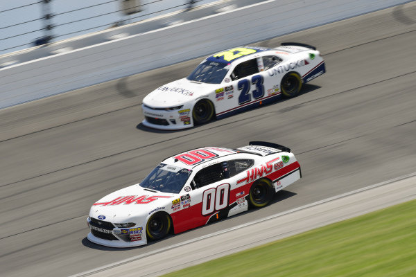 #00: Cole Custer, Stewart-Haas Racing, Ford Mustang Haas Automation, #23: Chase Elliott, GMS Racing, Chevrolet Camaro