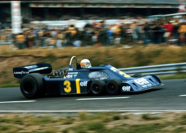 1976 German Grand Prix.Nurburgring, Germany.30/7-1/8 1976.Jody Scheckter (Tyrrell P34 Ford) 2nd position.World Copyright - LAT Photographic