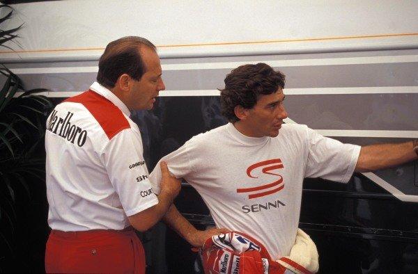 Ron Dennis and Ayrton Senna.