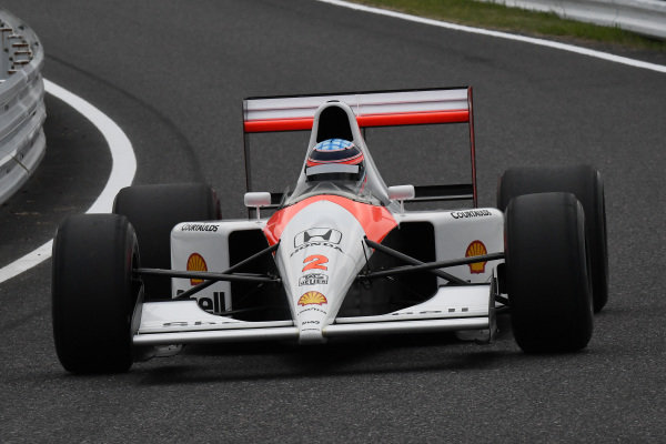 Takuma Sato, McLaren Honda MP4-7A at Legends F1 30th Anniversary Lap Demonstration