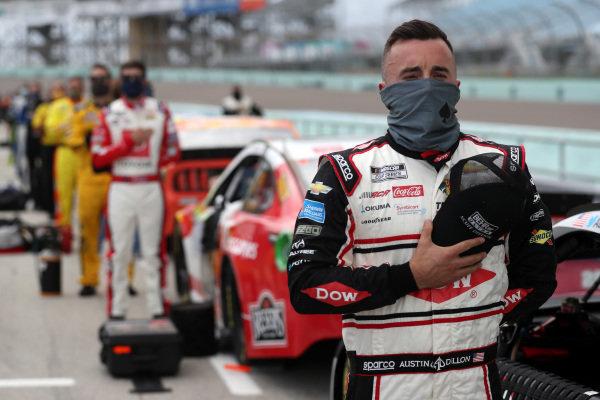 Austin Dillon, Richard Childress Racing Chevrolet DOW/Behr Ultra Scuff Defense, Copyright: Chris Graythen/Getty Images.