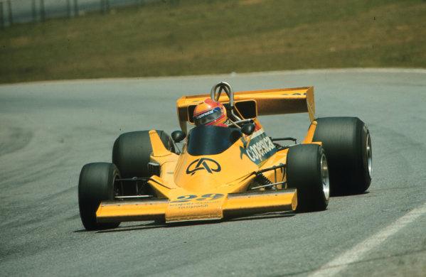 Interlagos, Sao Paulo, Brazil.  21-23 January 1977.  Ingo Hoffmann (Copersucar Fittipaldi FD04 Ford) 7th position.  World Copyright - LAT Photographic