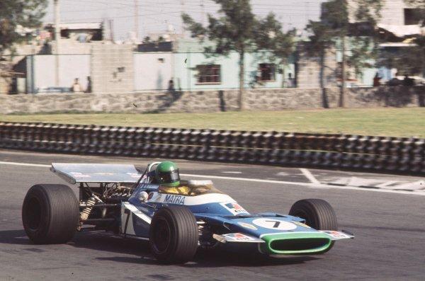 1970 Mexican Grand Prix.Mexico City, Mexico.23-25 October 1970.Henri Pescarolo (Matra-Simca MS120) 9th position.Ref-70 MEX 36.World Copyright - LAT Photographic