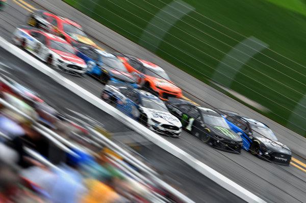 #1: Kurt Busch, Chip Ganassi Racing, Chevrolet Camaro Monster Energy #6: Ryan Newman, Roush Fenway Racing, Ford Mustang Kohler Generators #36: David Ragan, Front Row Motorsports, Ford Mustang
