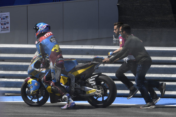 Alex Marquez, Marc VDS Racing, after crash