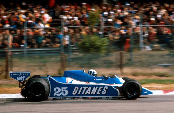 1980 Belgian Grand Prix.Zolder, Belgium.2-4 May 1980.Didier Pironi (Ligier JS11/15 Ford) 1st position.Ref-80 BEL 05.World Copyright - LAT Photographic