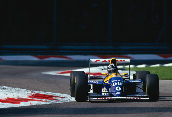 1993 Italian Grand Prix.Monza, Italy.10-12 September 1993.Damon Hill (Williams FW15C Renault) 1st position.Ref-93 ITA 13.World Copyright - LAT Photographic