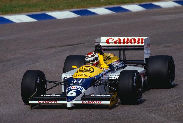 1986 German Grand Prix.Hockenheim, Germany.25-27 July 1986.Nelson Piquet (Williams FW11 Honda) 1st position.Ref-86 GER 33.World Copyright - LAT Photographic