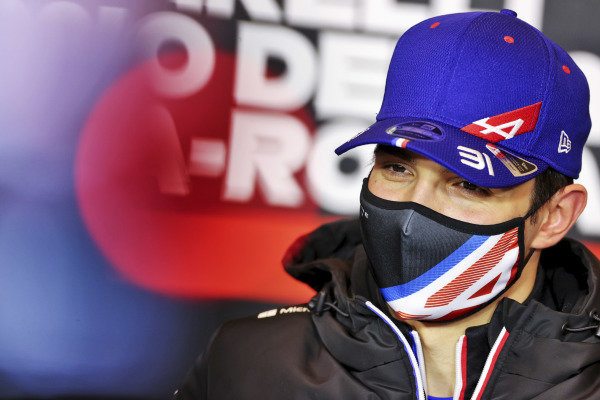 Esteban Ocon, Alpine F1 in the Press Conference