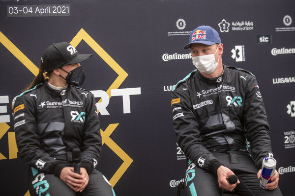 Molly Taylor (AUS), Rosberg X Racing, and Johan Kristoffersson (SWE), Rosberg X Racing, in the press conference