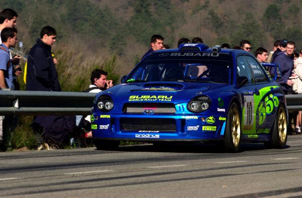 2002 World Rally ChampionshipRally Catalunya, 21st-24th March 2002.Tommi Makinen during shakedown.Photo: Ralph Hardwick/LAT