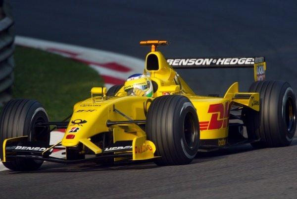 Giancarlo Fisichella (ITA) Jordan EJ12.Italian Grand Prix, Monza, 14 September 2002.DIGITAL IMAGE