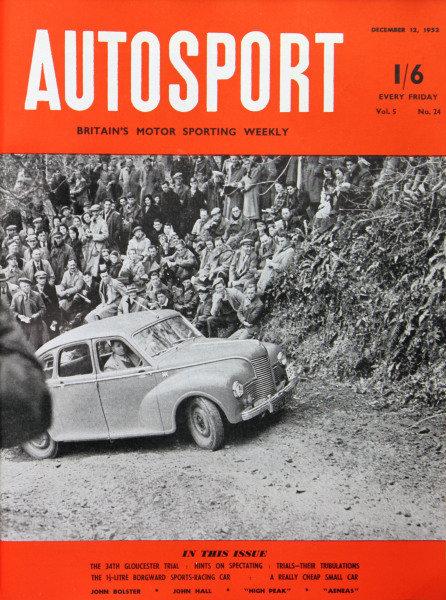 Cover of Autosport magazine, 12th December 1952