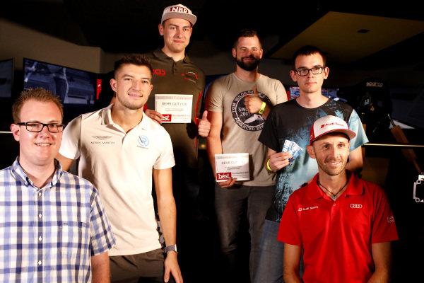 All winners with René Rast, Audi Sport Team Rosberg and Jake Dennis, R-Motorsport.