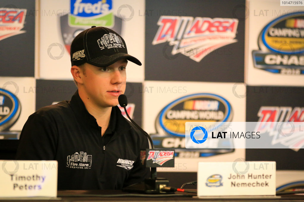 21-22 October, 2016, Talladega, Alabama USA John Hunter Nemechek ©2016, Barry Cantrell / LAT Photo USA