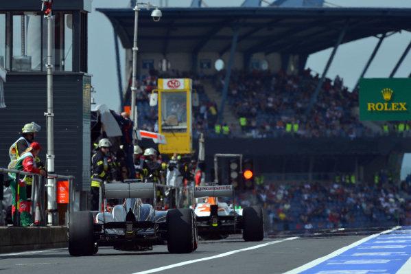Nico Hulkenberg (GER) Sauber C32. Formula One World Championship, Rd9, German Grand Prix, Qualifying, Nurburgring, Germany, Saturday 6 July 2013.