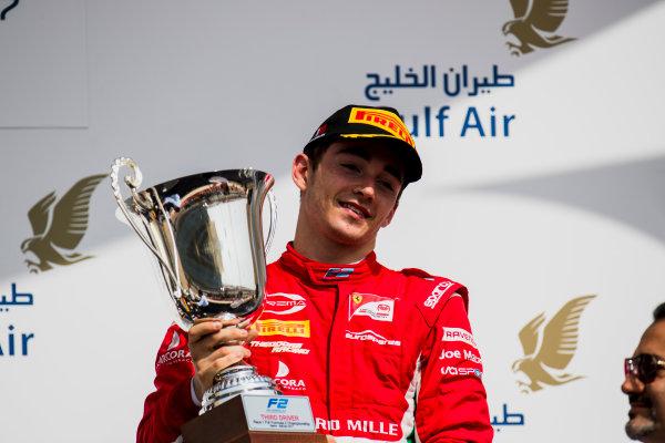 2017 FIA Formula 2 Round 1. Bahrain International Circuit, Sakhir, Bahrain.  Saturday 15 April 2017.Charles Leclerc (MCO, PREMA Racing)  Photo: Zak Mauger/FIA Formula 2. ref: Digital Image _56I0900