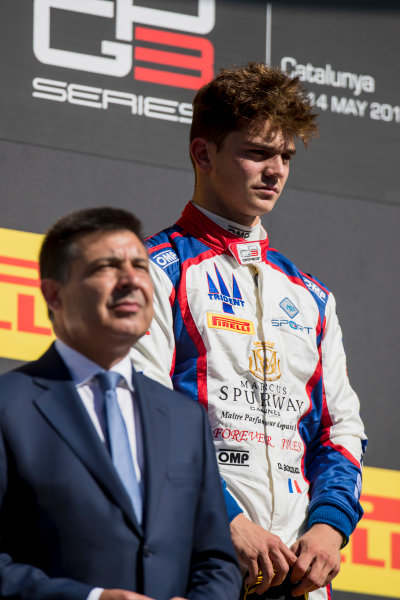 2017 GP3 Series Round 1.  Circuit de Catalunya, Barcelona, Spain. Sunday 14 May 2017. Dorian Boccolacci (FRA, Trident)  Photo: Zak Mauger/GP3 Series Media Service. ref: Digital Image _54I9478
