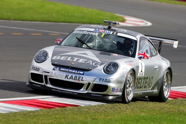 Richard Westbrook (GBR) HISAQ Competition. Porsche Supercup, Rd 5, Silverstone, England, 5-8 July 2007.