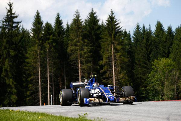 Red Bull Ring, Spielberg, Austria. Friday 7 July 2017. Pascal Wehrlein, Sauber C36-Ferrari. World Copyright: Andrew Hone/LAT Images ref: Digital Image _ONZ9914