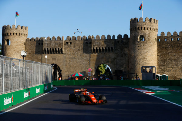 Baku City Circuit, Baku, Azerbaijan. Friday 23 June 2017. Stoffel Vandoorne, McLaren MCL32 Honda. World Copyright: Steven Tee/LAT Images ref: Digital Image _R3I2574