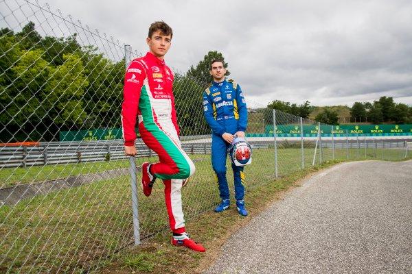 2017 FIA Formula 2 Round 7. Hungaroring, Budapest, Hungary. Thursday 27 July 2017. Charles Leclerc (MCO, PREMA Racing) and Nicholas Latifi (CAN, DAMS).  Photo: Zak Mauger/FIA Formula 2. ref: Digital Image _56I0169
