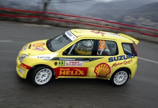 2004 FIA World Rally Champs. Round one, Monte Carlo Rally.22nd-25th January 2004.Guy Wilks, Suzuki, Action.World Copyright: McKlein/LAT