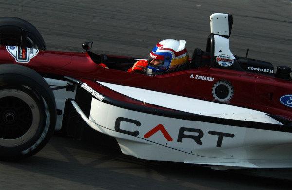 2003 ChampCar Series 9-11 May 2003German 500 at EuroSpeedway Lautsitz, GermanyAlex Zanardi on way out of pits2003- Dan R. Boyd USA LAT Photography