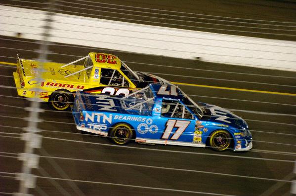 Kroger 200, Richmond International Raceway, Richmond,VA, USA 9 September, 2004Todd Bodine (30) and David Reutimann race together.-F Peirce Williams 2004 LAT Photographic