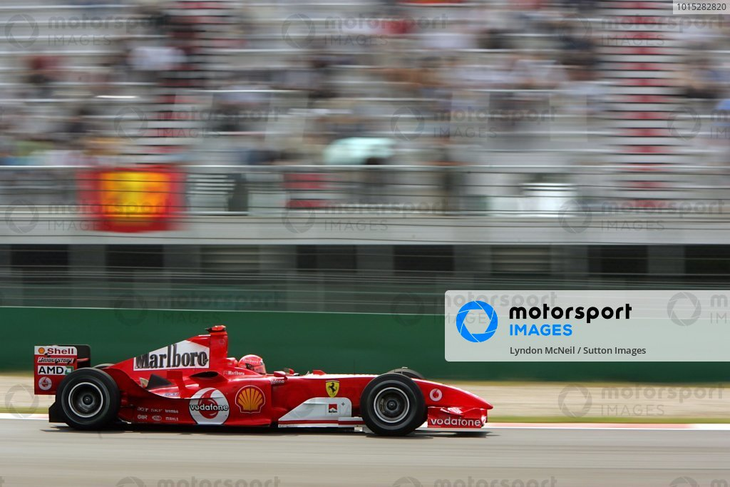 Michael Schumacher (GER) Ferrari F2004.
