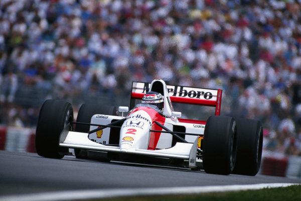 Gerhard Berger, McLaren MP4-7A Honda.
