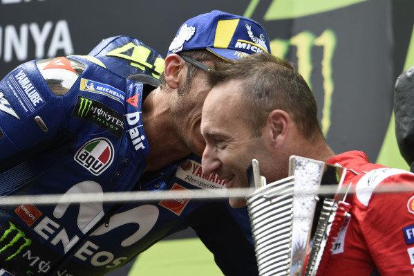 Podium: Valentino Rossi, Yamaha Factory Racing, Cristian Gabarrini, Ducati Team.