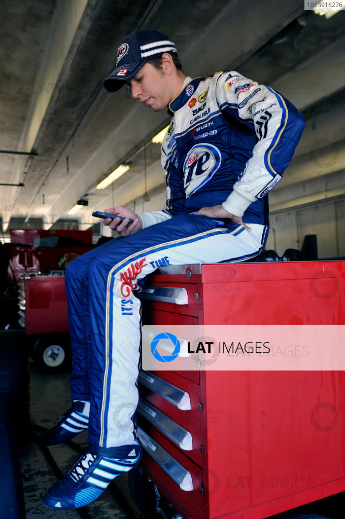 11-13 April, 2013, Fort Worth, Texas USA Brad Keselowski ©2013, Nigel Kinrade LAT Photo USA