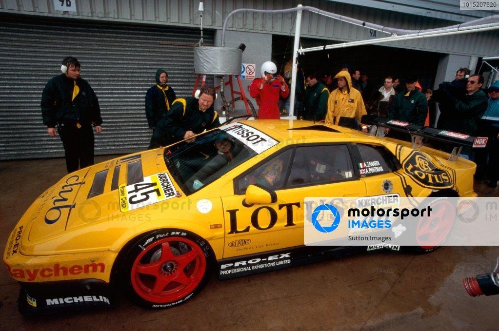 Alex Zanardi (ITA) / Alex Portman (GBR), Lotus Esprit Sport 300. BPR Global Endurance GT Series, Silverstone, England, 17 September 1995.