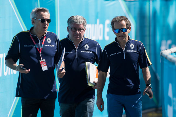 2015 Formula E  Buenos Aires e-Prix, Argentina Friday 5 February 2016. Jean-Paul Driot & Alain Prost - eDAMs Photo: Sam Bloxham/FIA Formula E/LAT ref: Digital Image _SBL9214