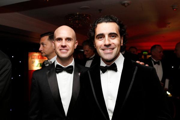 2015 Autosport Awards. Grosvenor House Hotel, Park Lane, London. Sunday 6 December 2015. Mario and Dario Franchitti. World Copyright: Adam Warner/LAT Photographic. ref: Digital Image _L5R8989
