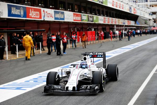 Circuit de Catalunya, Barcelona, Spain Monday 22 February 2016. Valtteri Bottas, Williams FW38 Mercedes. World Copyright: Steven Tee/LAT Photographic ref: Digital Image _L4R7023