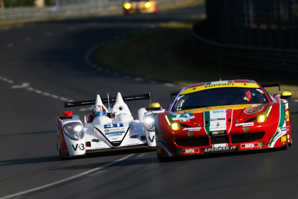 2014 Le Mans 24 Hours. Circuit de la Sarthe, Le Mans, France. Thursday 12 June 2014. Thomas Kimber-Smith (GBR), Chris Dyson (USA), Matthew McMurray (USA) - Greaves Motorsport, Zytek Z11SN-Nissan  Photo: Sam Bloxham/LAT ref: Digital Image _SBL8304