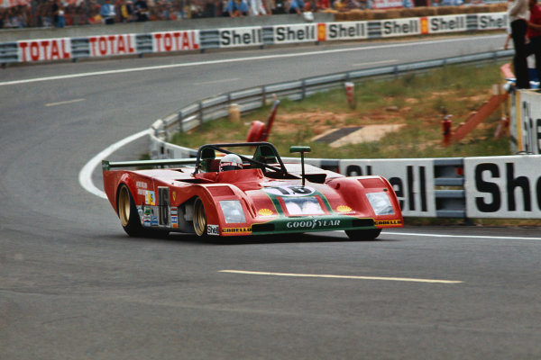 1973 Le Mans 24 hours. Le Mans, France. 9-10 June 1973. Arturo Merzario (pictured)/Carlos Pace (Ferrari 312PB), 2nd position. World Copyright: LAT Photographic Ref: 35mm transparency 73LM02