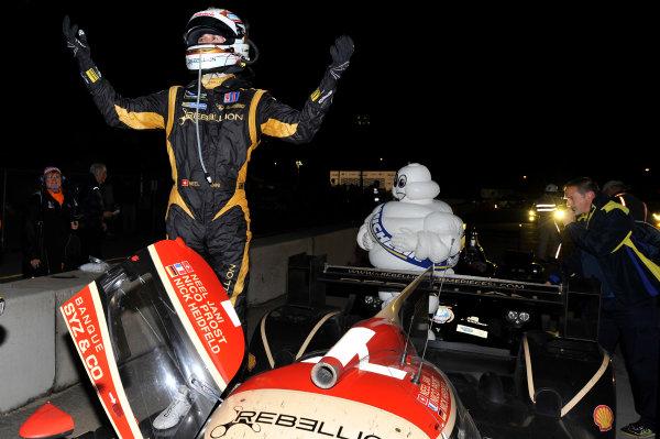 16-19 October, 2013, Braselton, Georgia USA Winner Neel Jani, Rebellion Racing celebrates the win ©2013 Scott R LePage  LAT Photo USA