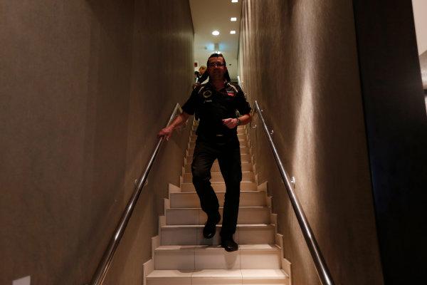 Yas Marina Circuit, Abu Dhabi, United Arab Emirates Sunday 4th November 2012. Eric Boullier, Team Principal, Lotus F1.  World Copyright: Andrew Ferraro/  ref: Digital Image _79P4017
