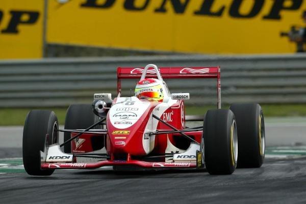 Race winner Ryan Briscoe (AUS) Prema Powerteam Dallara Opel.F3 Euro Series, Rd13 & Rd14, A1-Ring, Austria, 6 September 2003.DIGITAL IMAGE