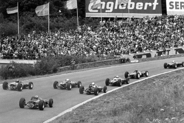 1964 Belgian Grand Prix.Spa-Francorchamps, Belgium. 14 June 1964.The start, action.World Copyright: LAT Photographic