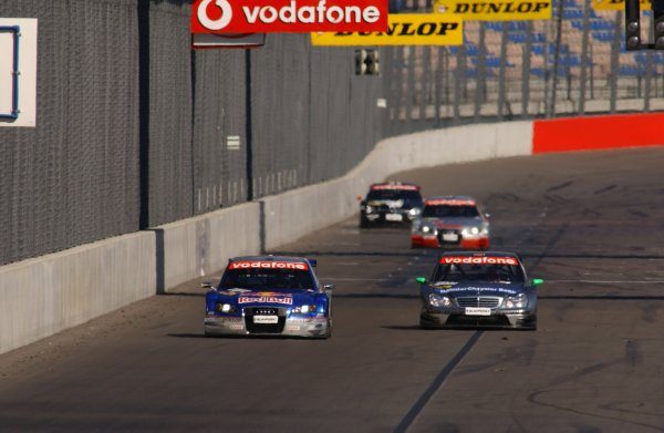 2005 DTM Championship Lausitz, Germany. 17th - 18th September 2005 Race winner Mattias Ekstrom (Abt Sportsline Audi A4) 1st position, leads Gary Paffett (AMG-Mercedes C-Klasse). Action. World Copyright: Andre Irlmeier / LAT Photographic ref: Digital Image Only