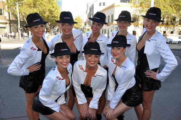 Qantas Girls. Formula One World Championship, Australian Grand Prix, Rd1, Preparations, Albert Park, Melbourne, Australia, Wednesday 14 March 2012. BEST IMAGE