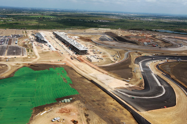 Aerial views of the Circuit of the Americas. Circuit of the Americas Construction, Austin, Texas, USA, Thursday 14 June 2012.