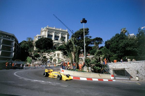 1987 Monaco Grand Prix. Monte Carlo, Monaco. 28th - 31st May 1987.  Ayrton Senna (Lotus 99T Honda),1st position, action. Ref-87 MON 10.World Copyright - LAT Photographic