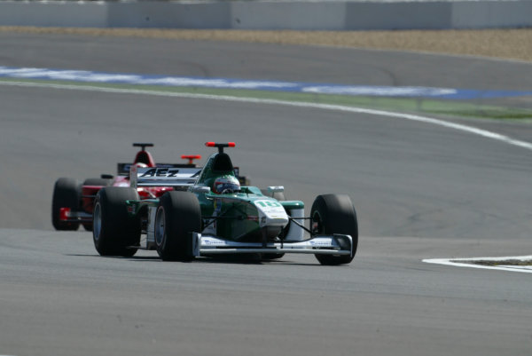 2004 Formula 3000 Championship (F3000) Nurburgring, Germany.29th May 2004. Raffaele Giammaria (AEZ I E. Engineering). Action.World Copyright: LAT Photographic ref: Digital Image Only