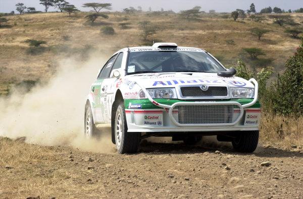 2001 World Rally Championship.Nairobi, Kenya. July 20-22, 2001Armin Schwarz during shakedown.Photo: Ralph Hardwick/LAT