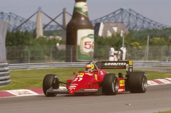 Montreal, Quebec, Canada.14-16 June 1985.Michele Alboreto (Ferrari 156/85) 1st position.Ref-85 CAN 01.World Copyright - LAT Photographic